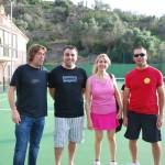Alcaldesa, regidor, presidente y vicepresidente del Deià Club de Tenis